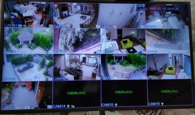 نمونه تصویر دوربین مداربسته اچ دی ویژن در نوشهر