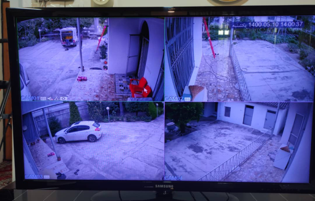 نمونه تصویر دوربین مداربسته HDVISION در چالوس