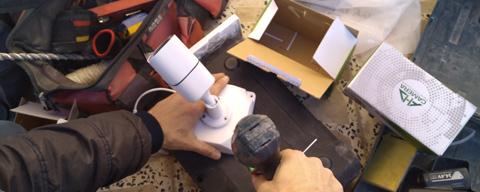 نمونه نصب دوربین مداربسته در نوشهر
